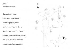 2022 tekening en gedicht