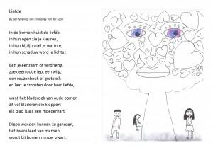 liefde tekeningen en gedicht
