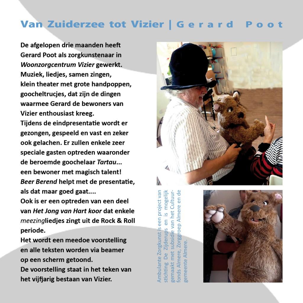flyer Gerard Poot project 1 achterkant